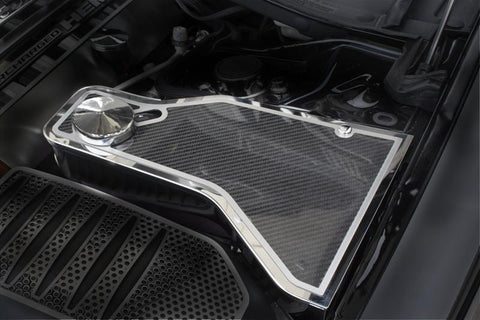 2011-2019 Dodge Challenger 5.7/SRT 8 6.1/6.4L - Carbon Fiber Water Tank Top Cover Plate