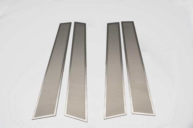 2011-2018 Dodge Charger | Brushed Stainless Door Pillar Trim Kit 4pc American Car Craft