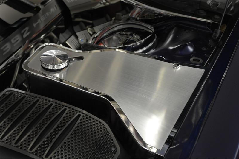 2011-2018 Dodge Charger - Brushed Stainless Water Tank Top Cover Plate American Car Craft