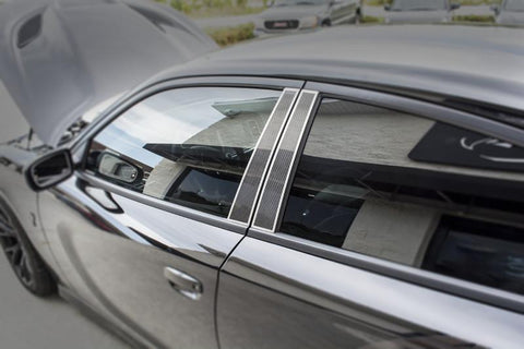 2011-2018 Dodge Charger - Carbon Fiber Door Pillar Plate | Polished or Brushed Trim
