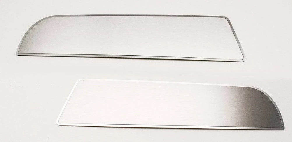 2011-2018 Dodge Charger - Front Door Badges 2Pc American Car Craft Brushed Stainless