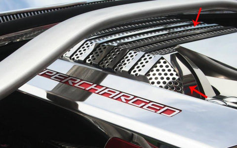 2012-2015 Camaro ZL1 - Supercharger Perforated Plenum Cover American Car Craft