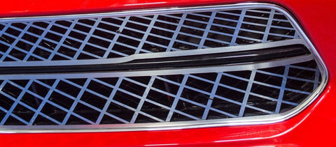2014-2019 C7 Corvette Stingray - Front Grille Expanded Diamond Pattern | Polished w/Brushed Trim