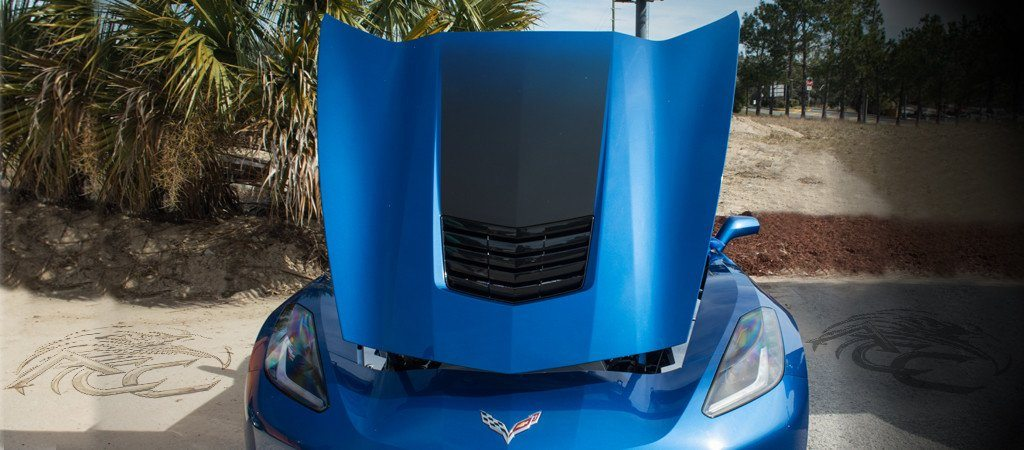2014-2017 C7 Corvette Stingray - Hood Graphic Sport Fade American Car Craft