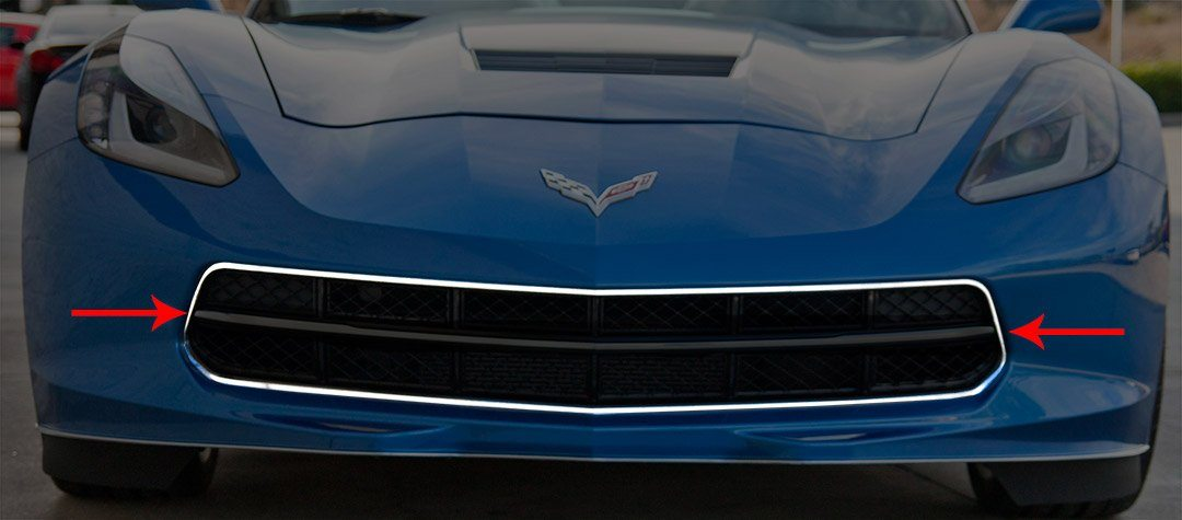 2014-2017 C7 Corvette Stingray - Polished Front Grille Factory Trim Ring American Car Craft