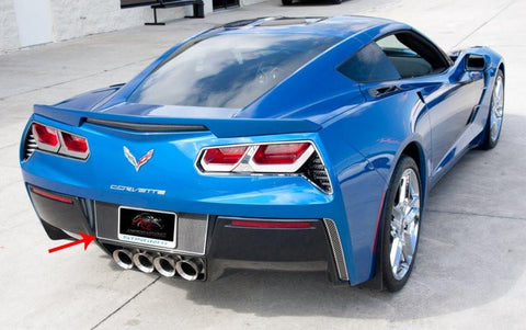 2014-2017 C7 Corvette Stingray - Tag Back Carbon/Fiberglass With Stainless Steel Trim American Car Craft