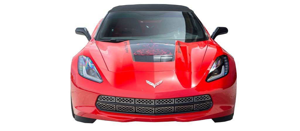 2014-2018 C7 Corvette Stingray - 12Pc Polished Front Grille Factory Overlay American Car Craft