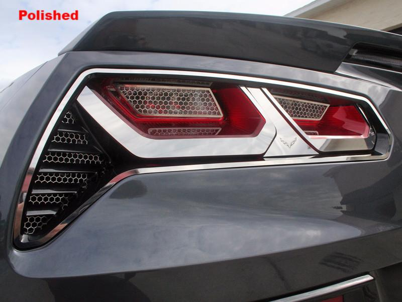 2014-2018 C7 Z06/Grand Sport - 8pc Tail Light Bezel Trim with Etched Emblem American Car Craft