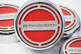 "2014-2019 Automatic Z06/Z51/C7 Corvette Stingray Fluid Cap Cover 5Pc Set With ""Stingray"" Lettering American Car Craft"