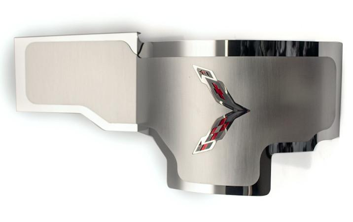 2014-2019 C7 Corvette - Alternator Cover Crossed Flags Emblem American Car Craft
