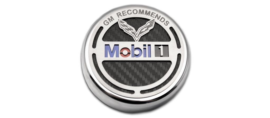 2014-2019 C7 Corvette Commemorative Oil Fluid Cap Cover | GM Recommends Mobil 1 American Car Craft