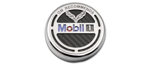 2014-2019 C7 Corvette - Commemorative Oil Fluid Cap Cover | GM Recommends Mobil 1