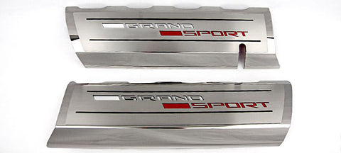 2014-2019 C7 Corvette Grand Sport - Fuel Rail Covers Grand Sport Style | Stainless Steel