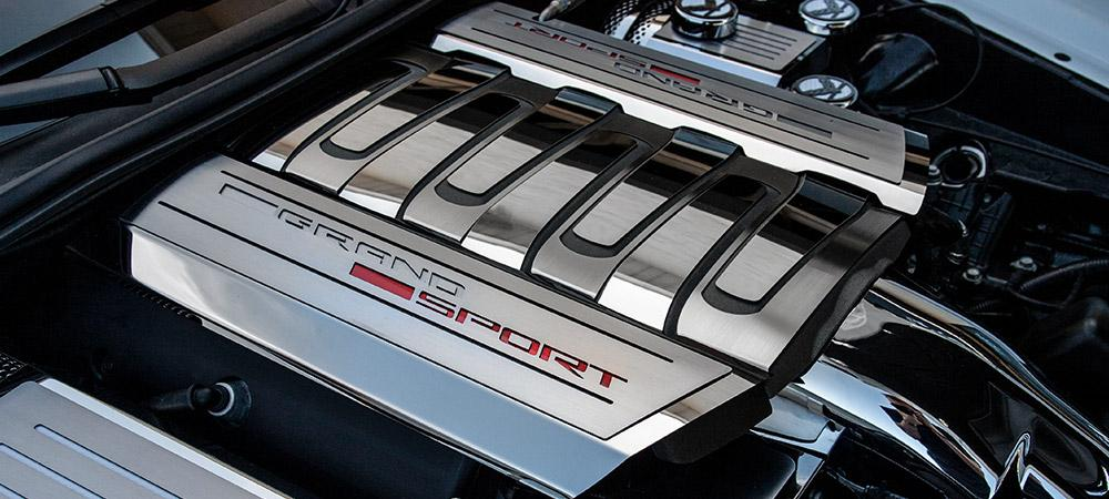 2014-2019 C7 Corvette Grand Sport - Fuel Rail Covers Grand Sport Style | Stainless Steel American Car Craft