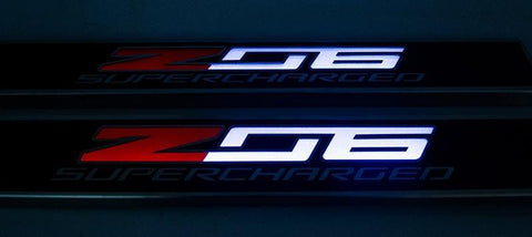 2014-2019 C7 Corvette - Light Up Z06 Supercharged Replacement Door Sills