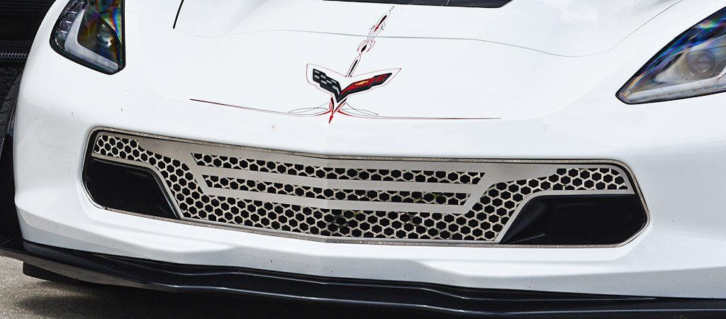 2014-2019 C7 GrandSport/Z06 Corvette - Retro Matrix Series Front Grille 3Pc | Stainless Steel American Car Craft