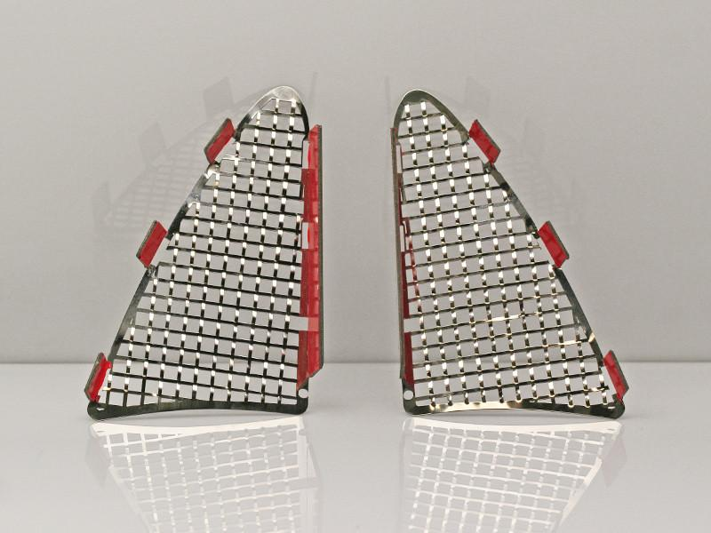 2014-2019 C7 Z06/Grand Sport - 2Pc Polished Laser Mesh Taillight Grilles American Car Craft