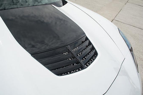 2014-2019 Corvette C7- Expanded Diamond Pattern Hood Vent Grille | Choose Finish