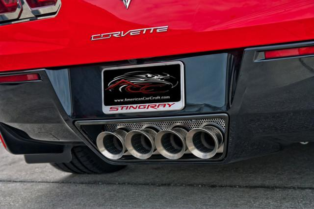 2014-2019 C7/Z06/ZR1/Grand Sport Corvette Perforated Exhaust Filler Panel NPP American Car Craft