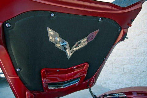 2014-2019 C7/Z51 Stingray Corvette - Hood Emblem Corvette Flags | Polished/Brushed Stainless Steel