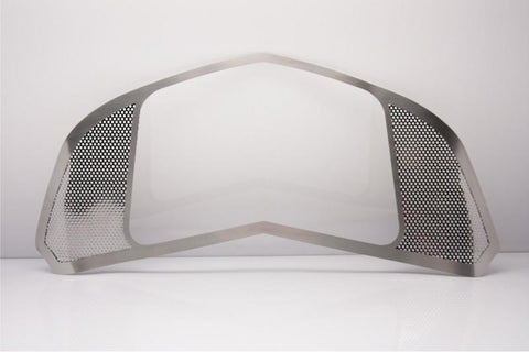 2014-2019 C7/Z51 Stingray/Z06 Corvette - Perforated Hood Panel Kit 2Pc | Polished Stainless Steel