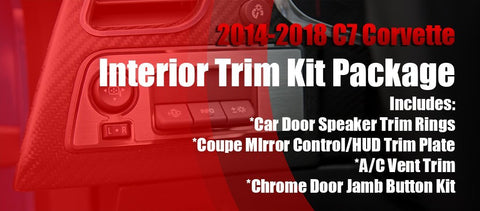 2014-2019 Corvette C7 - Interior Trim Kit | Bundled Deal