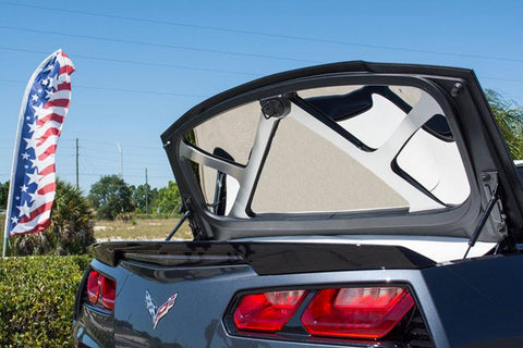 2014-2019 Corvette C7 Stingray Convertible - Trunk Lid Trim Kit Polished w/Brushed Brace | Stainless Steel