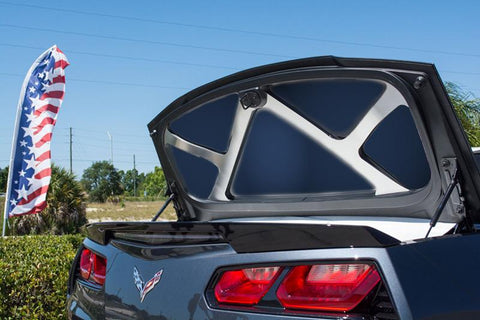 2014-2019 Corvette C7 Stingray - Trunk Lid Brace | Stainless Steel, Choose Finish