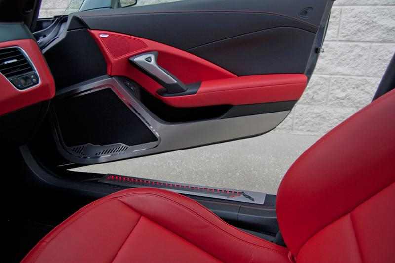 2014-2019 Corvette Stingray - Door Guards with Corvette Lettering 2pc American Car Craft