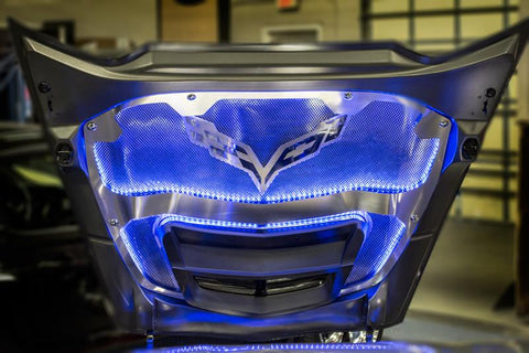 2014-2019 Corvette Z06/Grand Sport - Illuminated Hood Trim w/Center Brace For All Hood Panels | Choose LED Color