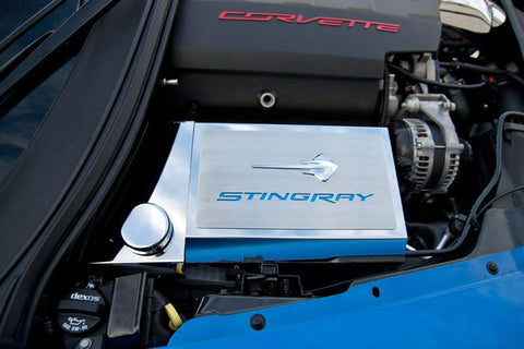2014-2019 Corvette Z06/Z51/C7- Fuse Box Cover with Stingray Emblem & Lettering