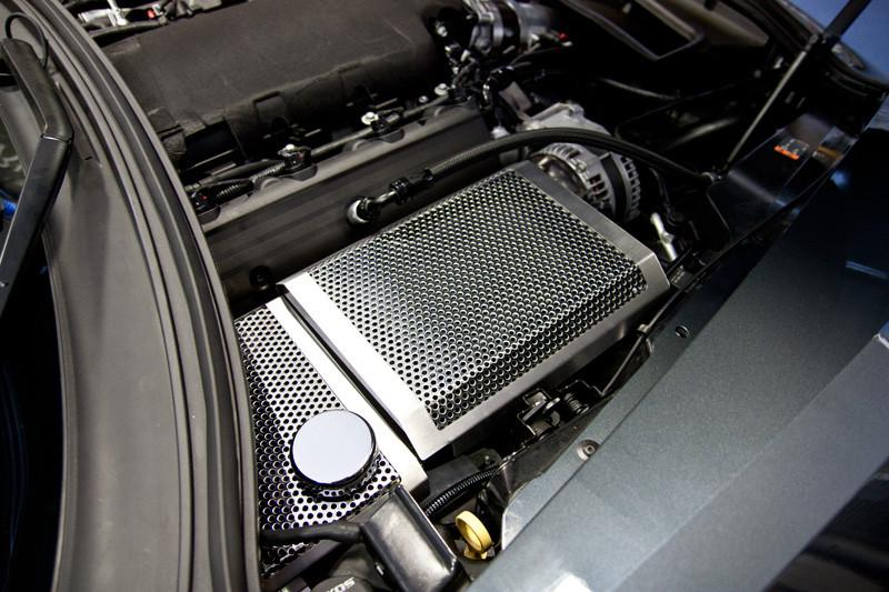 2014-2019 Corvette Z06/Z51/C7 Stingray - Perforated/Brushed Fuse Box Cover American Car Craft