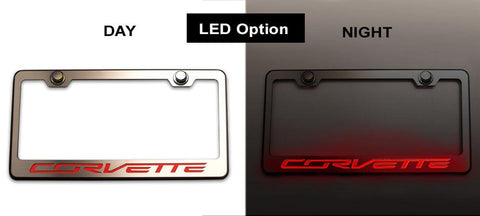 "2014-2019 Custom Corvette Stingray - License Plate Frame 'Corvette""' Lettering 