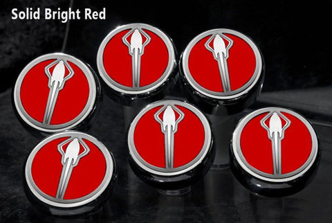 2014-2019 Manual Z06/Z51/C7 Corvette Stingray - Fluid Cap Cover 6Pc Set With Stingray Emblem American Car Craft