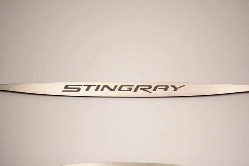 2014-2019 Stingray Corvette - Auto Dim Rear View Mirror Trim with Etched Stingray Lettering American Car Craft