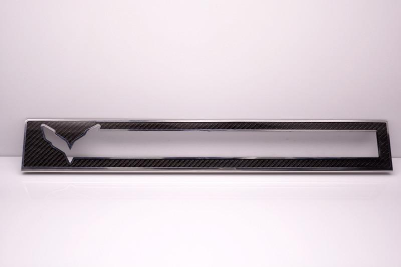 2014-2019 Z06/C7/Z51 Corvette Stingray - Carbon/Fiberglass Door Sill Overlays With Stainless Steel Trim American Car Craft