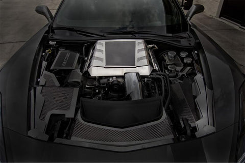 2015-2016 Z06 Corvette -Z06 Supercharger Engine Shroud Cover | Carbon Fiberglass/Stainless Steel