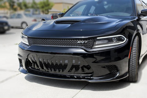 2015-2019 Dodge Charger Hellcat or Scat Pack- Sabretooth Grille | Stainless Steel, Choose Black or Brushed