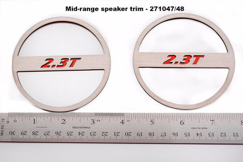 "2015-2017 Ford Mustang - ""2.3T"" Mid-Range Speaker Trim Kit American Car Craft"