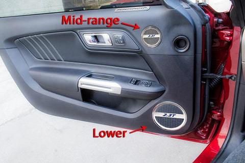 "2015-2017 Ford Mustang - ""2.3T"" Mid-Range Speaker Trim Kit"