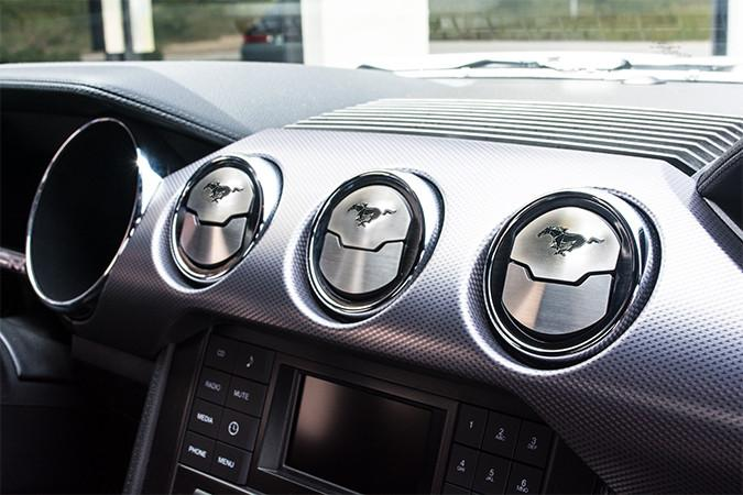 2015-2017 Mustang - A/C Vent (3) Trim Kit w/Polished Inlay Pony American Car Craft