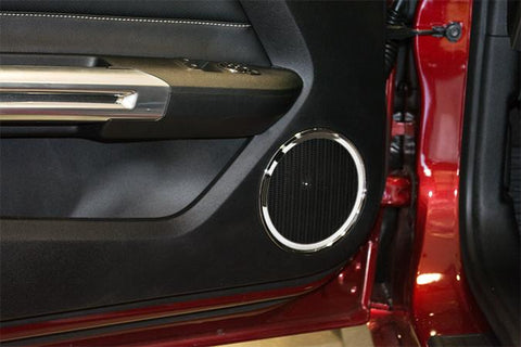 2015-2017 Mustang - Door Speaker Trim | 2pc Polished or Brushed American Car Craft