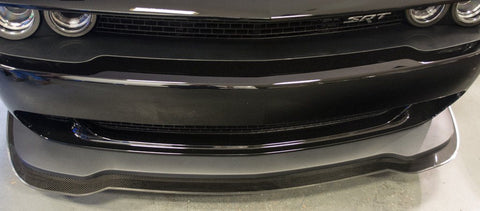 2015-2018 5.7L/SRT 8 Dodge Challenger Hellcat - Lip Spoiler w/Real Carbon Fiber Overlay American Car Craft