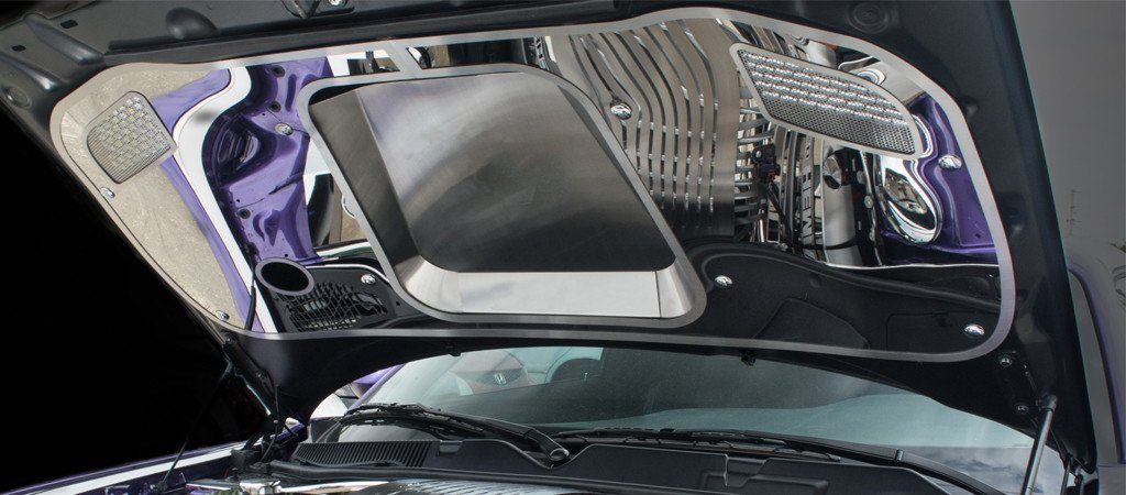 2015-2018 Challenger Hellcat - Hood Panel w/ Brushed Sport Vented Center Insert American Car Craft