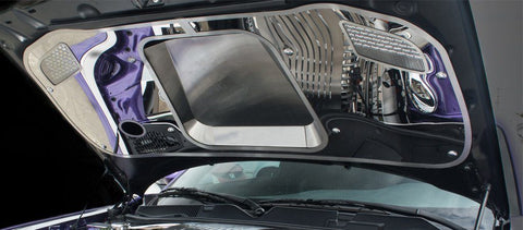 2015-2019 Challenger Hellcat - Hood Panel w/Brushed Sport Vented Center Insert | Stainless Steel