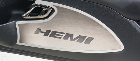 2015-2019 Dodge Challenger - Door Badges Brushed w/HEMI Inlay | Choose Color