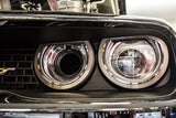 2015-2018 Dodge Challenger | LED Headlight Surrounds American Car Craft LED White