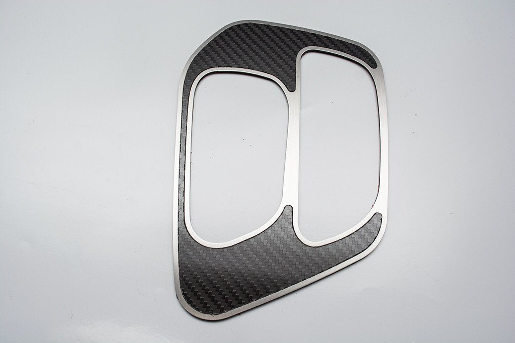 2015-2018 Dodge Challenger Shifter Plate Brushed or Carbon Fiber Inlaid American Car Craft Carbon Fiber