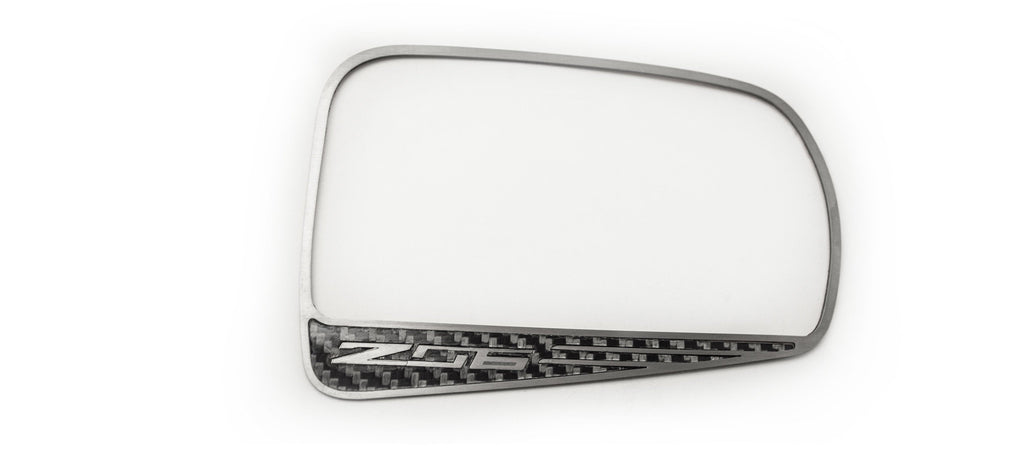 2015-2019 Corvette C7 Z06 - Carbon Fiber Side View Mirror Trim American Car Craft