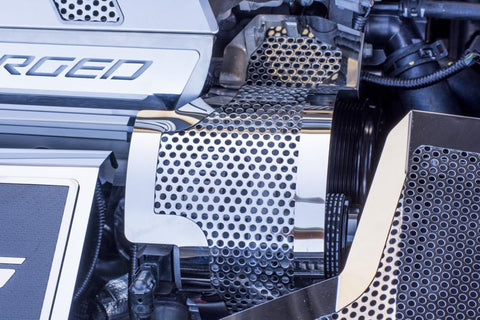 2015-2019 Corvette Z06 - Polished Perforated Alternator Cover American Car Craft